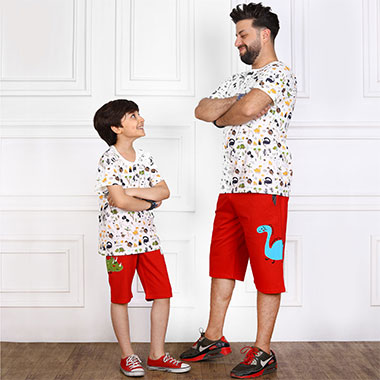 لباس ست پدر و پسر (پسرانه)کدمحصول راسکی001