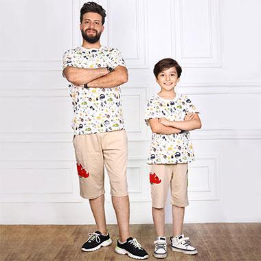 لباس ست پدر و پسر(پسرانه) کدمحصول راسکی003