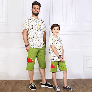 لباس ست پدر و پسر (پدر)کدمحصول راسکی004