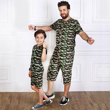 لباس ست پدر و پسر (پسرانه)کدمحصول فیدل001