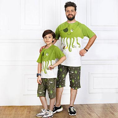 لباس ست پدر و پسر(پسرانه) کدمحصول ویلی001