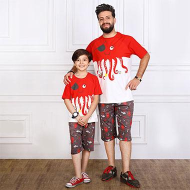 لباس ست پدر و پسر(پسرانه) کدمحصول ویلی002